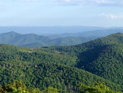 The summit of Mt. Pisgah, NC