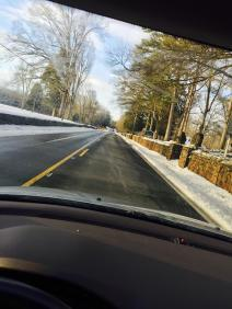 On the road during Winter Storm Jonas Jan. 2016