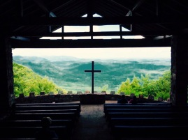 Pretty Place Chapel on the NC/SC border. Though strangers to me sat there on the front row taking it in, I prayer right there at that cross. One of the best moments in my life.